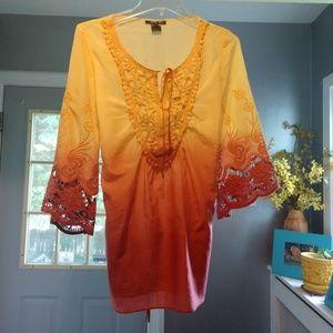Anna Sui ombre cotton tunic